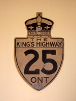King's Hwy 25 Sign - © Cameron Bevers
