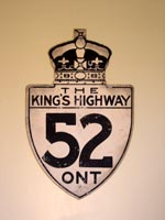 King's Hwy 52 Sign - © Cameron Bevers