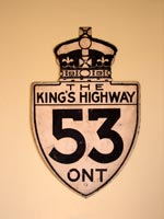 King's Hwy 53 Sign - © Cameron Bevers