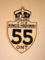 King's Hwy 55 Sign - © Cameron Bevers