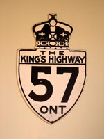King's Hwy 57 Sign - © Cameron Bevers