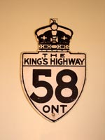 King's Hwy 58 Sign - © Cameron Bevers