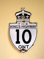 King's Hwy 10 Sign - © Cameron Bevers