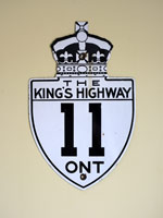 King's Hwy 11 Sign - © Cameron Bevers