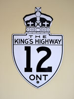 King's Hwy 12 Sign - © Cameron Bevers