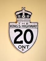 King's Hwy 20 Sign - © Cameron Bevers