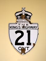 King's Hwy 21 Sign - © Cameron Bevers