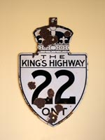 King's Hwy 22 Sign - © Cameron Bevers