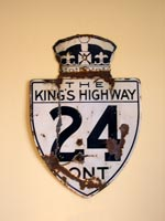 King's Hwy 24 Sign - © Cameron Bevers