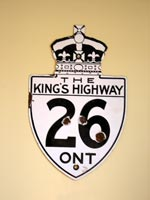 King's Hwy 26 Sign - © Cameron Bevers
