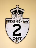 King's Hwy 2 Sign - © Cameron Bevers