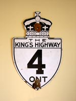 King's Hwy 4 Sign - © Cameron Bevers