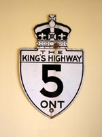 King's Hwy 5 Sign - © Cameron Bevers
