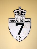King's Hwy 7 Sign - © Cameron Bevers