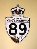 King's Hwy 89 Sign - © Cameron Bevers