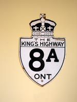 King's Hwy 8A Sign - © Cameron Bevers