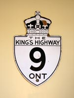 King's Hwy 9 Sign - © Cameron Bevers