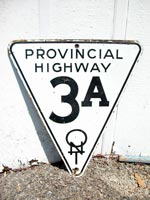 Provincial Hwy 3A Sign - © Cameron Bevers