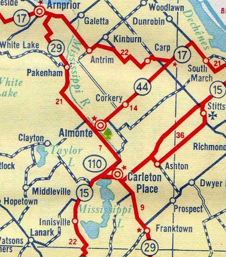 HWY 110 MAP