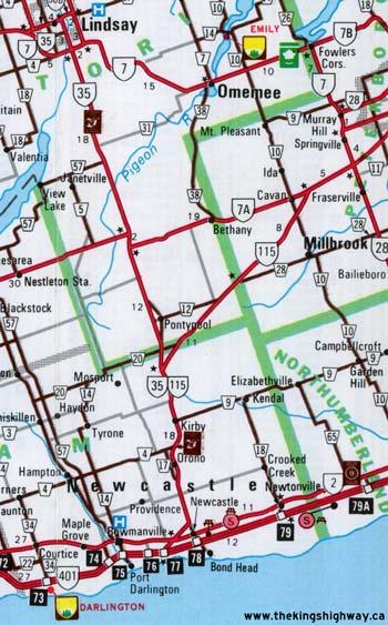 HWY 115 MAP - 1980