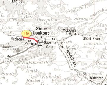 HWY 116 MAP