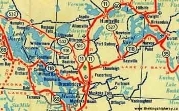 HWY 118 MAP - 1956