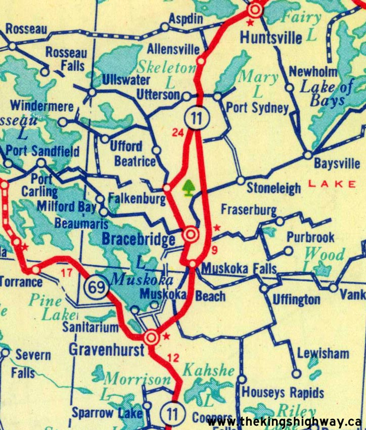 Ontario Highway 11A (Muskoka) Route Map - The King's Highways of Ontario