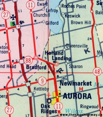 HWY 11B HOLLAND LANDING MAP