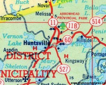 HWY 11B HUNTSVILLE MAP