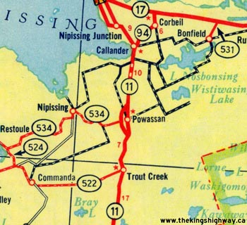 HWY 11B POWASSAN MAP