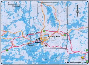 HWY 17A KENORA MAP