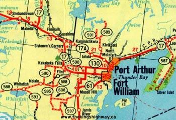 HWY 17A THUNDER BAY MAP