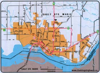 HWY 17B SAULT STE MARIE MAP