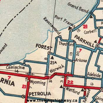 HWY 21A MAP - 1936