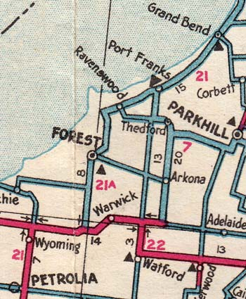 HWY 21A MAP - 1937