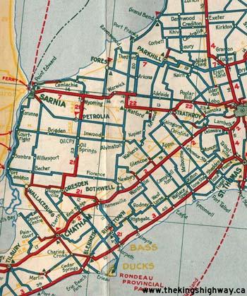 HWY 21 MAP - 1933
