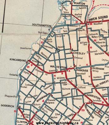 HWY 21 MAP - 1936N
