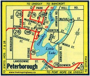 HWY 7B PETERBOROUGH MAP - 1962