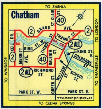 HWY 2A CHATHAM MAP