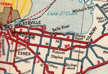 HWY 2A WINDSOR MAP - 1936