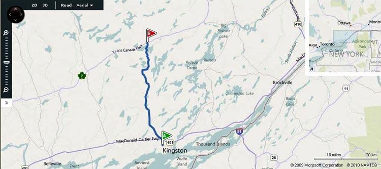 HWY 38 MAP