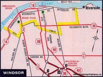 HWY 3B WINDSOR MAP