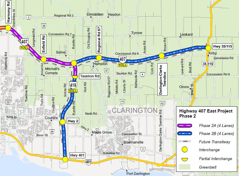HWY 418 (TOLL) MAP
