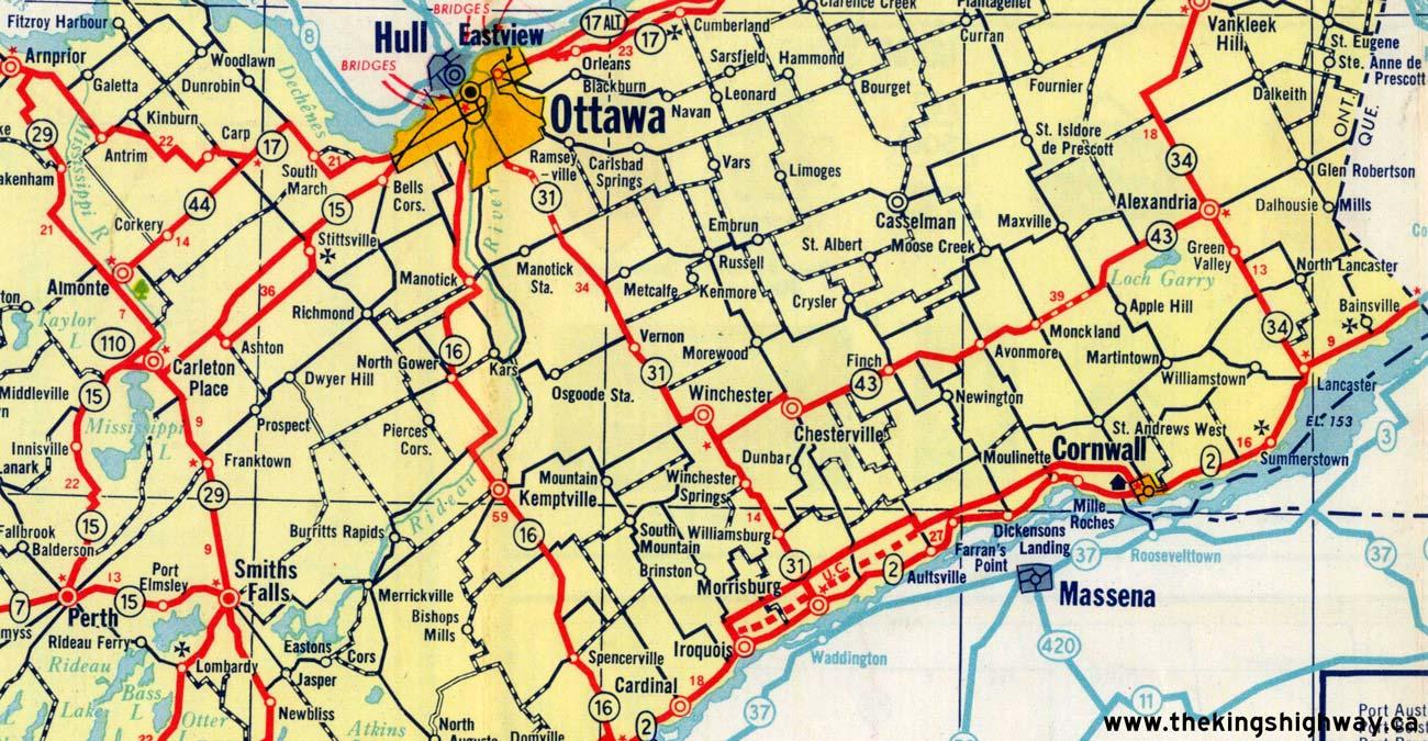 Ontario Highway 43 Route Map The Kings Highways of Ontario