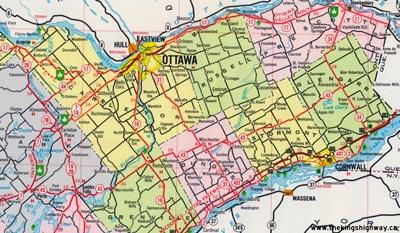 HWY 43 MAP - 1965