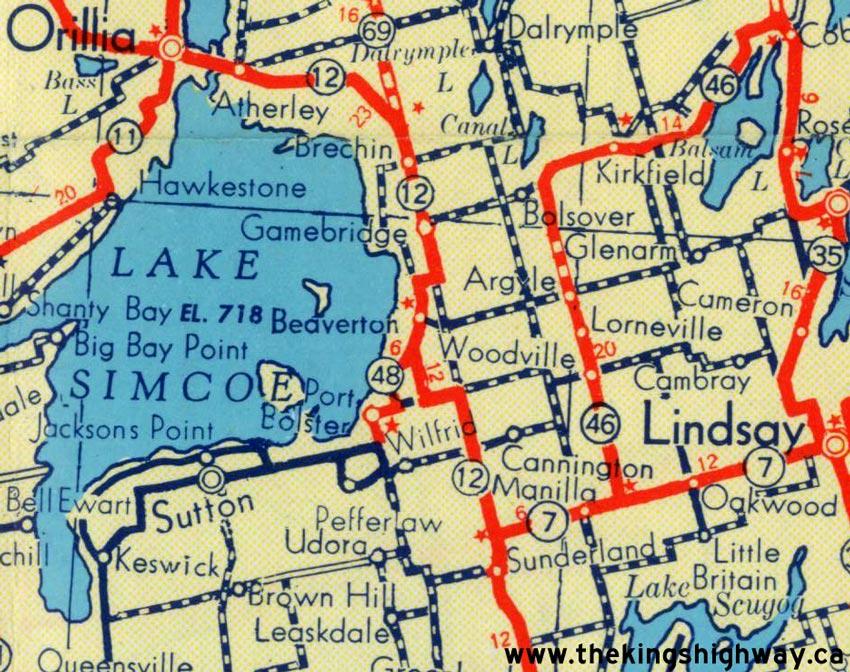 Ontario Highway Route Map The Kings Highways Of Ontario - Ontario map