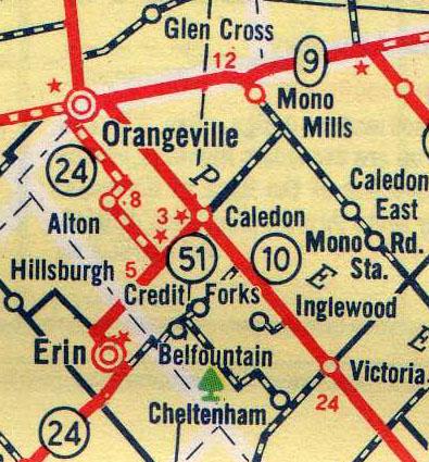 HWY 51 MAP - 1961