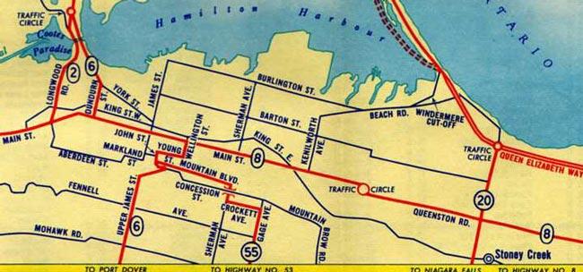 HWY 55 MAP