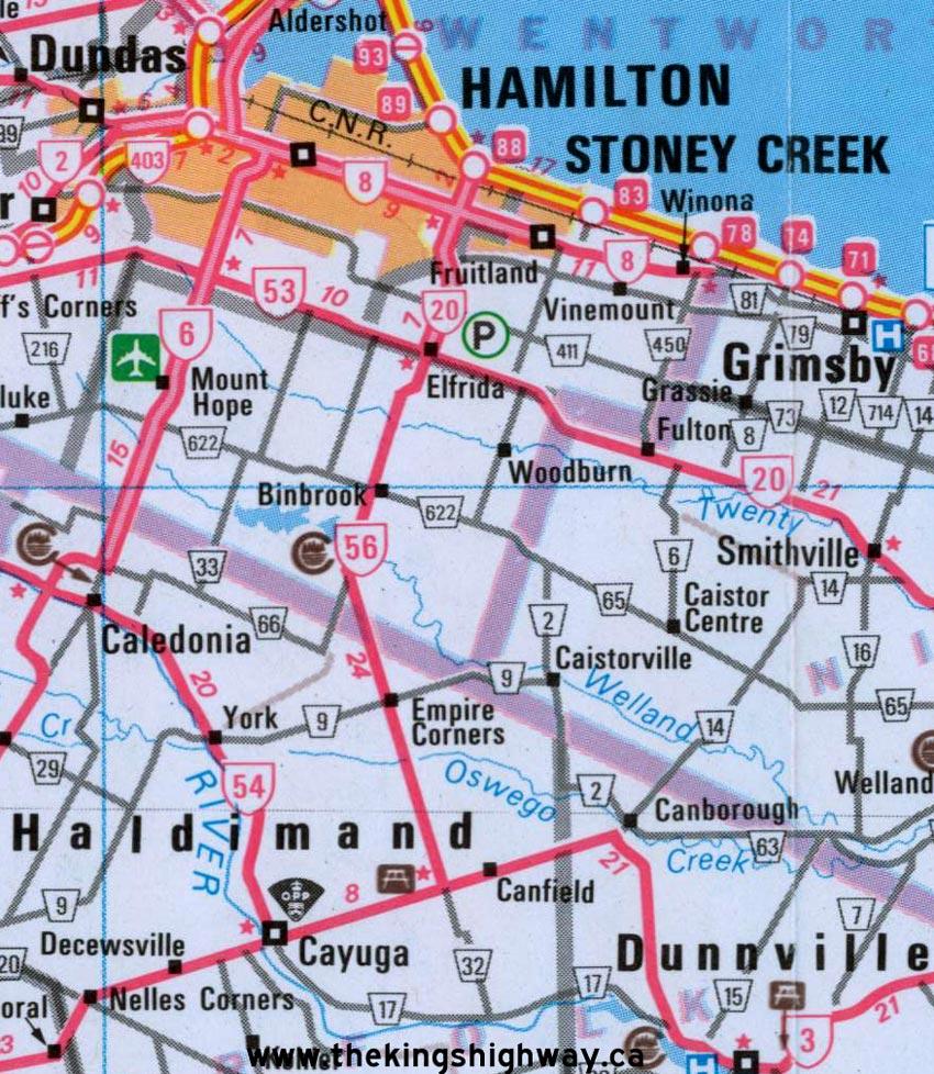 HWY 56 MAP