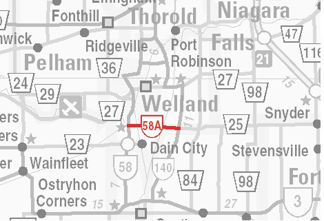 HWY 58A MAP